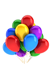 """Bukiet 1# - 12"""" / 30cm 10 Balonów z helem Kolorowych #10 Mix Kolory"""