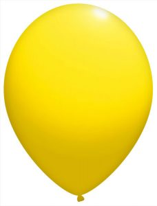 12″ / 30cm Balony Okrągłe Standardowe Pastel Żółty #110