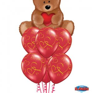 Bukiet 9# - 35″ / 89cm Teddy Bear Love Qualatex #16453, 40862_6