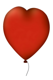 """11"""" / 28 cm Czerwone Balony Serca"""