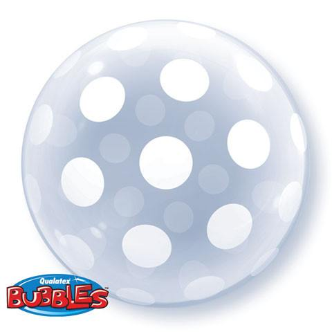"20"" / 51cm Deco Bubble Big Polka Dot All Around Qualatex #16872"