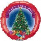 """18"""" / 46cm Merry Christmas Tree Qualatex #23687"""