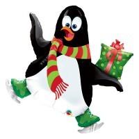 """41"""" / 104cm Ice Skating Penguin Qualatex #27675"""