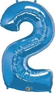 """43"""" / 109cm x 34"""" / 86cm wysokość Number two Sapphire Blue Qualatex #30519"""