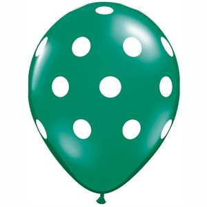 "11"" / 28cm Big Polka Dots Qualatex"