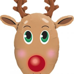 "36"" / 91cm Red Nosed Reindeer Qualatex #40077"