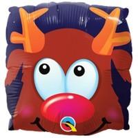 """9"""" / 23cm Rudolph Fun Face Qualatex #51004"""