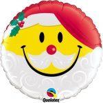 """18"""" / 46cm Smile Face Santa Qualatex #54814"""