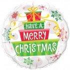 "18"" / 46cm Christmas Gifts & Snowflakes Qualatex #55085"