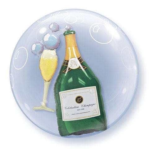 "24"" / 61cm Bubbly Wine Bottle & Glass Qualatex #68810"