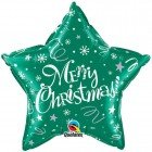 "20"" / 46cm Merry Christmas ! Festive Green Qualatex #99810"