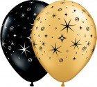 "11"" / 28cm 50ct / 50szt Sparkles & Swirls Qualatex #12578"