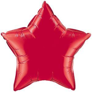 Ruby Red Star Qualatex
