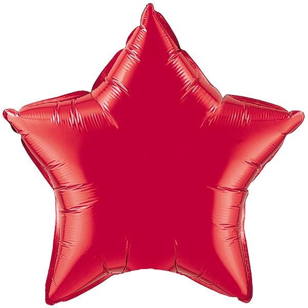 36″ / 91cm Ruby Red Star Qualatex #12605
