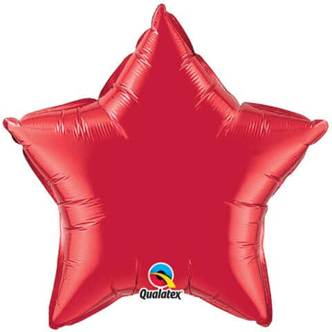 """20"""" / 51cm Solid Colour Star Ruby Red Qualatex #99606"""