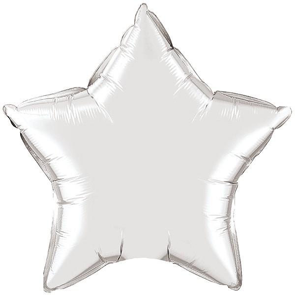 36″ / 91cm Silver Star Qualatex #22376