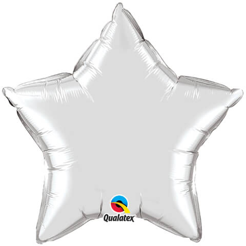 "20"" / 51cm Solid Colour Star Silver Qualatex #99612"