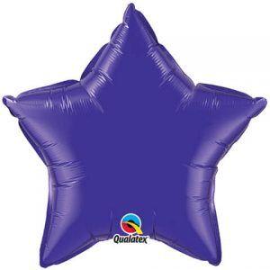 """20"""" / 51cm Solid Colour Star Quartz Purple Qualatex #99651"""
