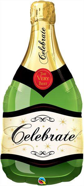 "39"" / 99cm Celebrate Bubbly Wine Bottle Qualatex #16122"