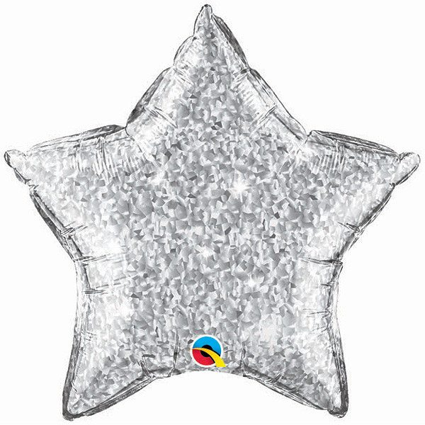 Holographic Silver Qualatex