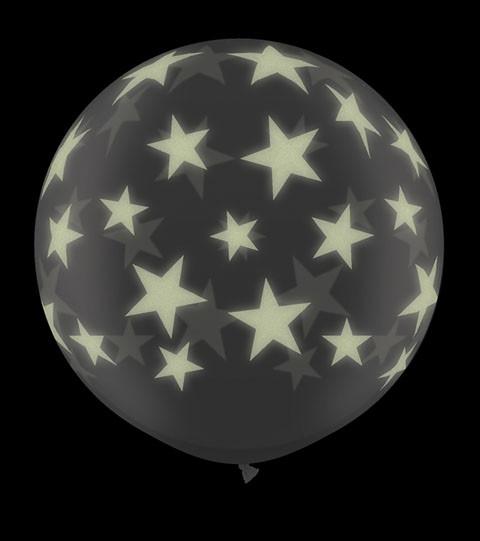 3' / 91cm 2ct / 2szt Glow Star A Round Qualatex #28154