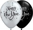 "11"" / 28cm 50ct / 50szt New Year Sparkle Qualatex #40905"