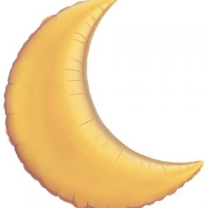 "35"" / 89cm Crescent Moon Metallic Gold Qualatex #36530"