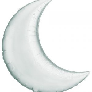"35"" / 89cm Crescent Moon Silver Qualatex #36531"