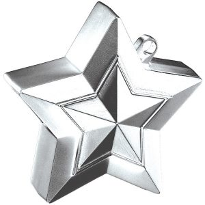 150g Star Balloon Weights Silver#38787