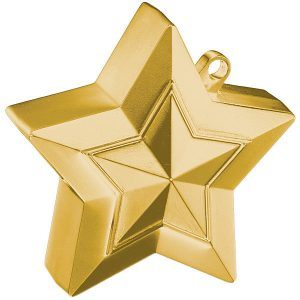 150g Star Balloon Weights Gold #38790