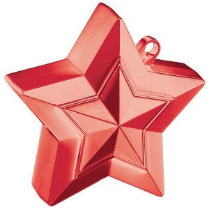 150g Star Balloon Weights Red #38791