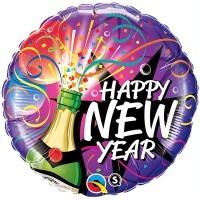 "18"" / 46cm New Year - Sip, Sip Hooray Qualatex #40085"