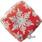 "18"" / 46cm Snowflake Sparkles Red Qualatex #40093"