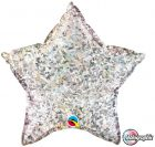 "20"" / 51cm Holographic Solid Colour Star Silver Qualatex #41267"