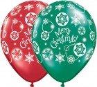 """11"""" / 28cm Christmas! Snowflakes Qualatex"""