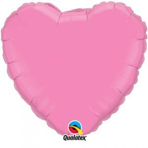 "18"" / 46cm Solid Colour Heart Rose Qualatex #12891"