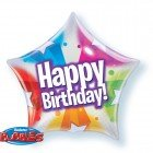 "22"" / 56cm Birthday Star & Dot Patterns Qualatex #13758"