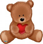 "35"" / 89cm Teddy Bear Love Qualatex #16453"