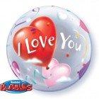 "22"" / 56cm I Love You Heart Balloons Qualatex #16676"