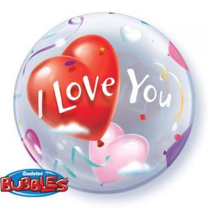 "22"" / 56cm I Love You Heart Balloons Qualatex #16676"