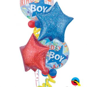 "Bukiet 3# - 22"" / 55cm Birthday Boy Party Hat Qualatex #27510_2, 41284, 41280"