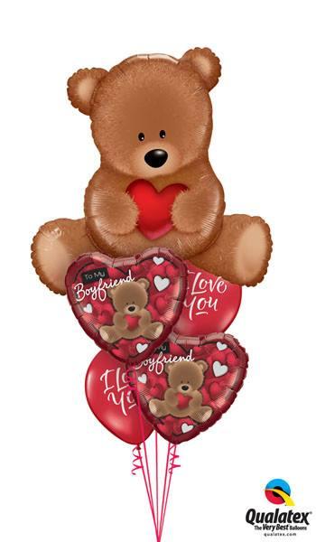Bukiet 8# – 35″ / 89cm Teddy Bear Love #16453, 41318, 41320, 37504