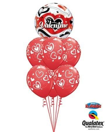 Bukiet 143 To My Valentine Banner Hearts Qualatex #33907 11123-6