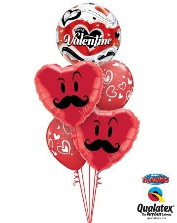 Bukiet 149 To My Valentine Banner Hearts Qualatex #33907 60066-2 11123-2