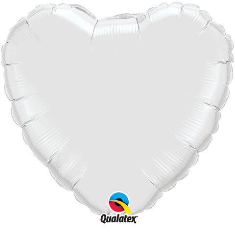 Solid Colour Heart White Qualatex