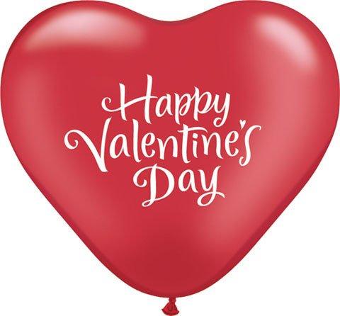 "15"" / 38cm 50ct / 50szt Valentine""s Heart Script Qualatex #23982"