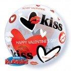 "22"" / 56cm Valentine's Kisses & Hearts Qualatex #27539"