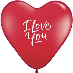 "15"" / 38cm 50ct / 50szt I Love You Script Qualatex #29005"