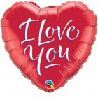 "9"" / 23cm I Love You Script Modern Qualatex #29131"