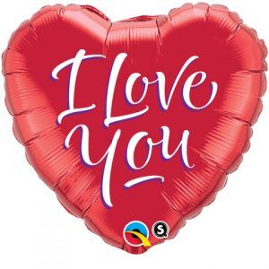 "18"" / 46cm I Love You Script Modern Qualatex #29133"